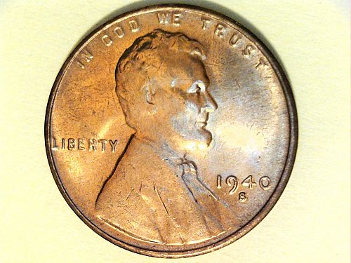 1940 S Lincoln Cent--Uncirculated