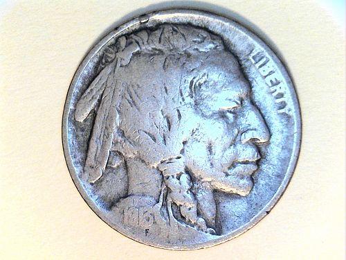 1913 P Buffalo Nickel Type 1--Fine