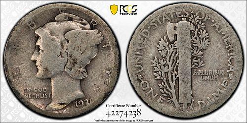 1921 P Mercury Dime