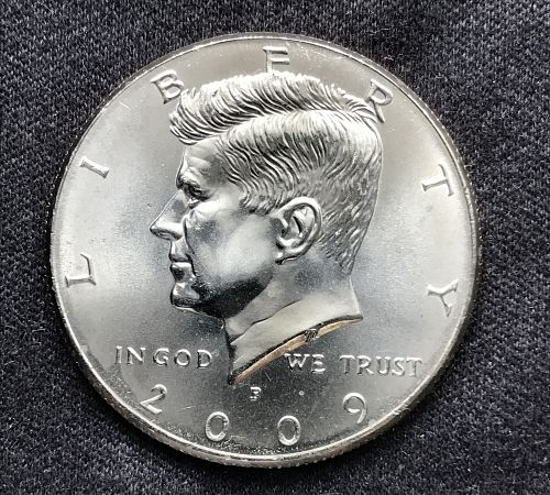 2009 P Uncirculated Clad Kennedy Half Dollar-(0701-1)