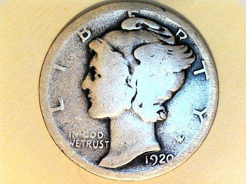 1920 P Mercury Dime
