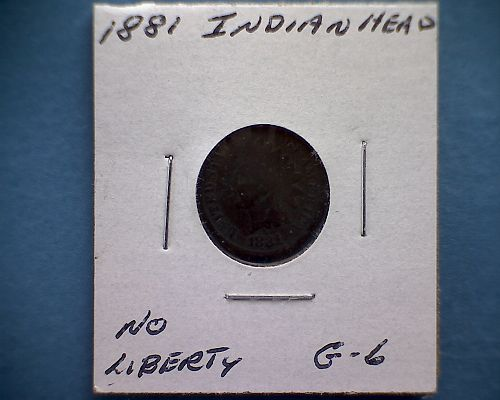 1881 P Indian Head Cent Small Cents