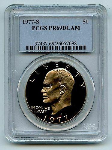 1977 S $1 Ike Eisenhower Dollar Proof PCGS PR69DCAM