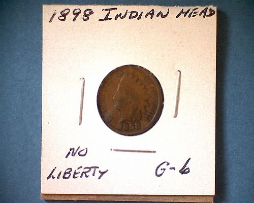 1898 P Indian Head Cent Small Cents