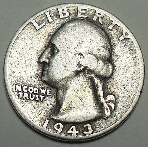 1943-P Silver Quarter