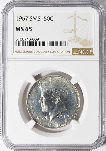 1967 Kennedy Half Dollar SMS NGC MS-65