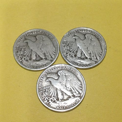 (3) Walking Liberty Half Dollars