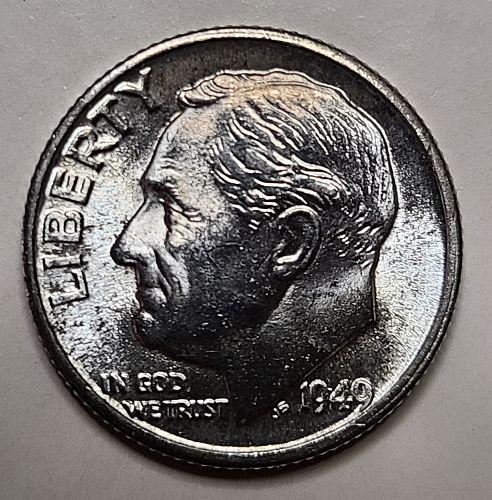 1949-D Roosevelt Dime MS-63 (Choice BU)