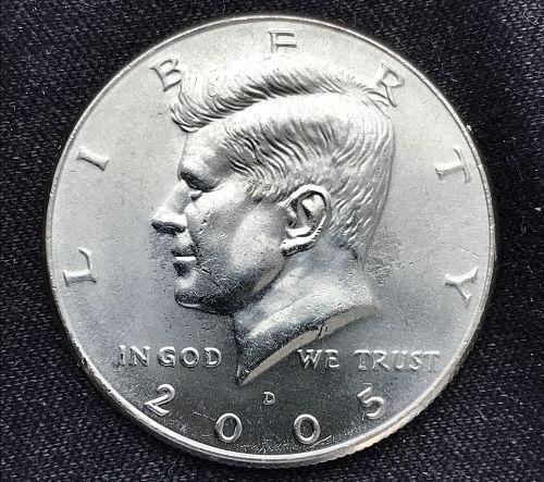 2005 D Uncirculated Clad Kennedy Half Dollar-(0711-1)