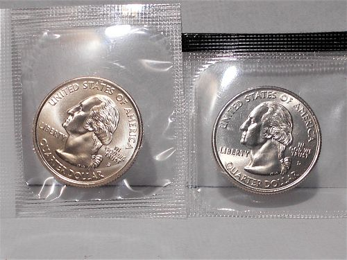 2005 P and D West Virginia quarters in orig US Mint cello