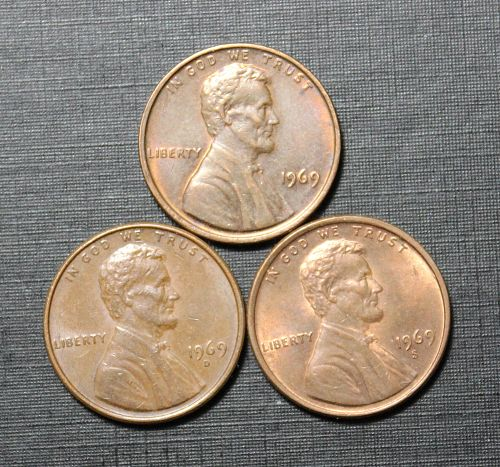 1969PDS Lincoln Memorial cents