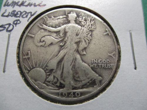 1940  F15 Walking Liberty Half Dollar.  item: 50 W40-07.