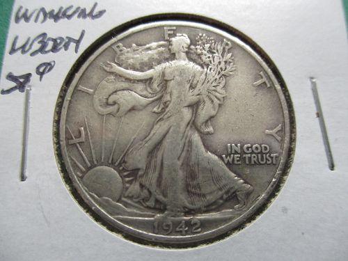 1942-D  VF30 Walking Liberty Half Dollar.  Item: 50 W42D-07.