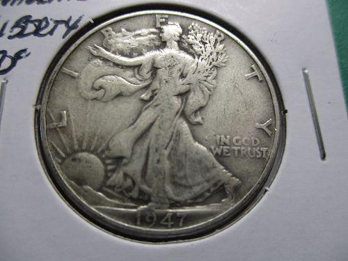 1947  F15 Walking Liberty Half Dollar.  Item: 50 W47-05.