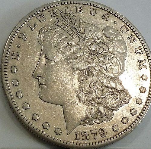 1879-O About Uncirculated Morgan Silver Dollar # 617