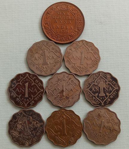 British India circulated coins..