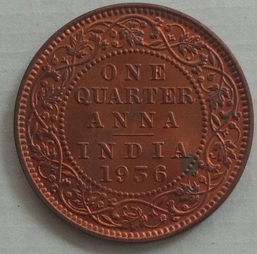 L).......British India 1/4 Anna coin..1936