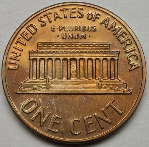 1970 S Lincoln Memorial Cent Large Date#12 TONED