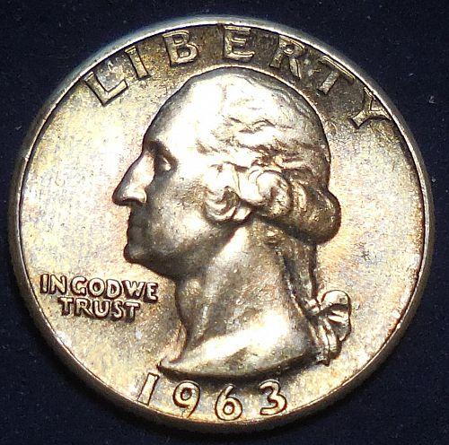 1963-P Silver Quarter