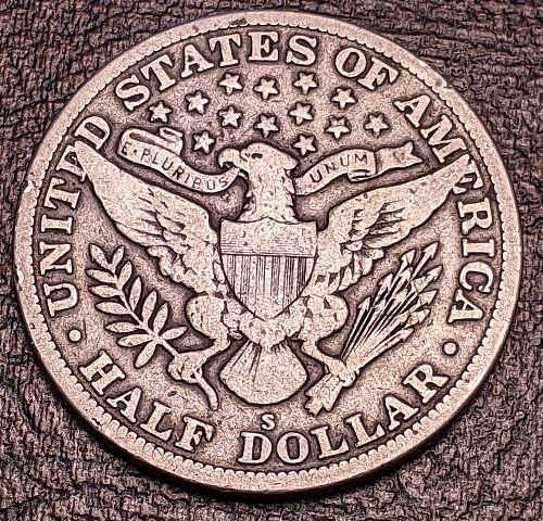 1915S FINE BARBER HALF DOLLAR