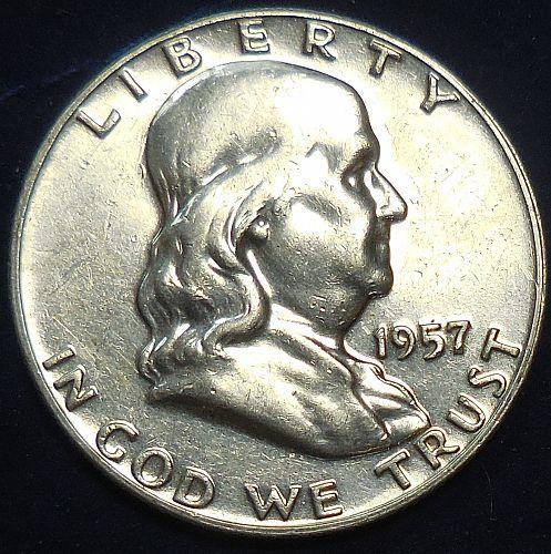 1957-P Franklin Half Dollar