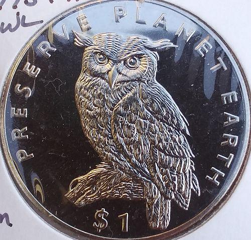 """Eritrea 🇪🇷 Lot of 6 Premium BU """"Preserve Planet Earth"""" Copper Nickel 1$s"""