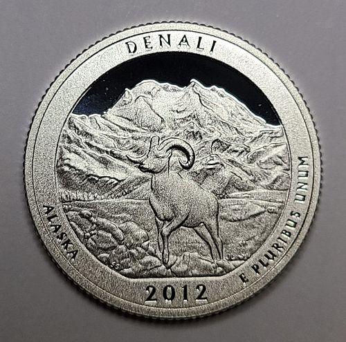 2012-S Alaska-Denali SILVER Proof-66 (GEM+) National Parks Quarter