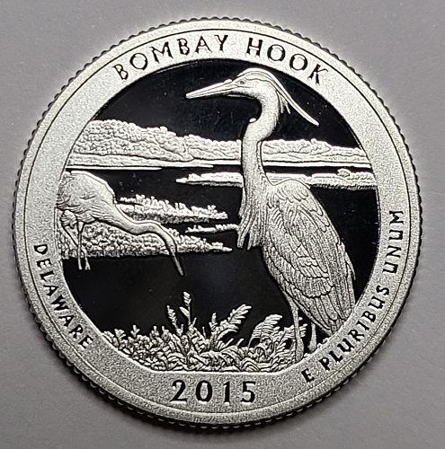 2015-S Delaware-Bombay Hook SILVER Proof-65 (GEM) National Parks Quarter