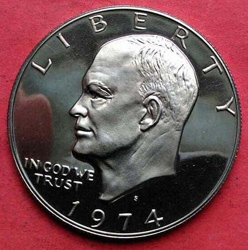 1974 S Eisenhower Dollar Silver Clad. Low Mintage 4313