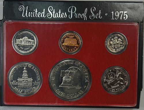 1975 S Proof Set w/Bicentennial Quarter, Half and Dollar