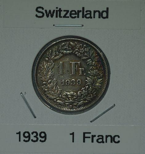 1939 1 Franc - Switzerland