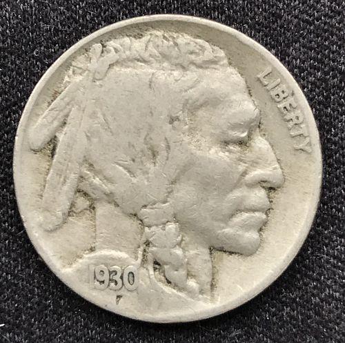"""1930 Indian Head """"Buffalo"""" Nickel --(0716-1)"""