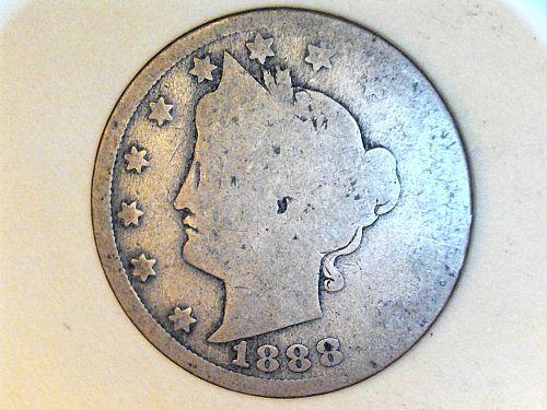 1888 Liberty Nickel---AG-Semi Key