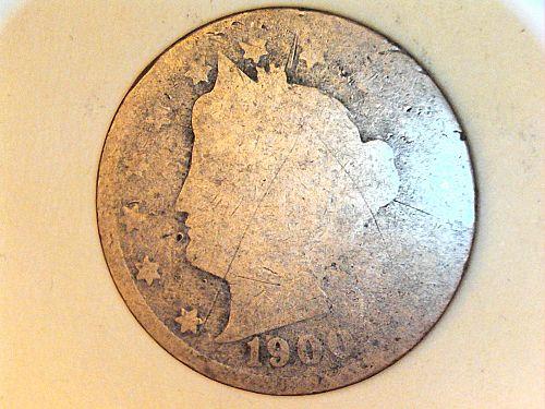 1900 Liberty Nickel--Poor