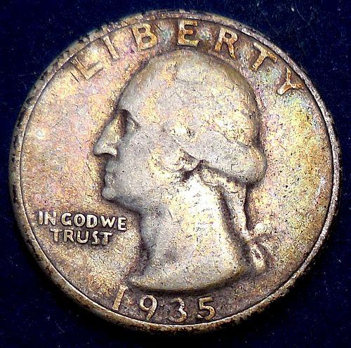 1935-P Silver Quarter