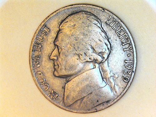 1939 P Jefferson Nickel---XF-AU