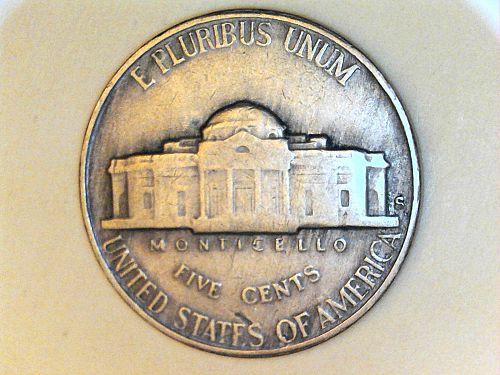 1954 S Jefferson Nickel--VF
