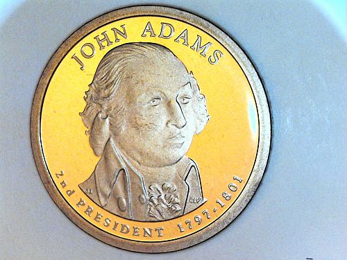 2007 S Proof John Adams Dollar