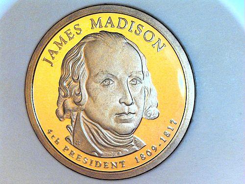 2007 S Proof James Madison Dollar