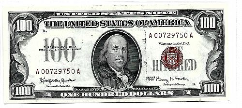 1966 $100.00 UNITED STATES NOTE
