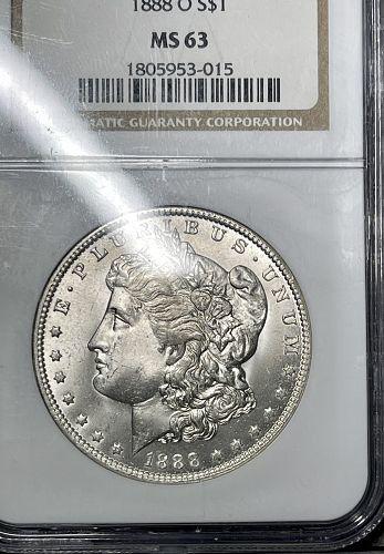 1888-O Choice BU/MS63 NGC Graded Morgan US Silver Dollar