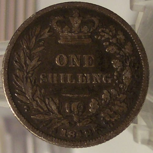 KM #734.1 1842 Great Britain Silver Shilling #0652