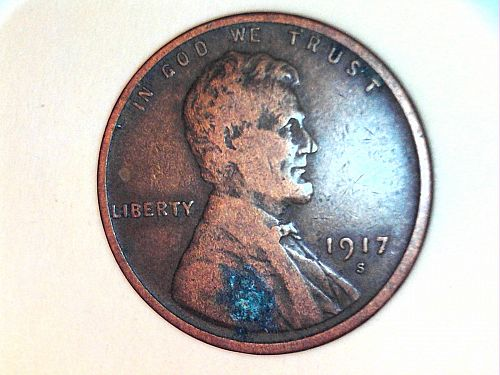 1917 S Lincoln Cent--VF Details