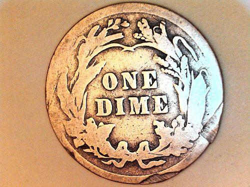 1916 P Barber Dime--Good Details