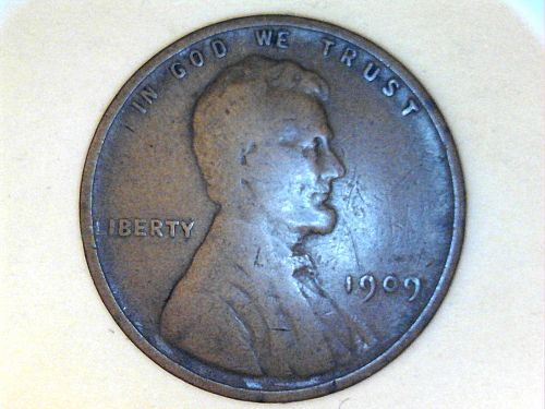 1909 P Lincoln Cent--Good-VG