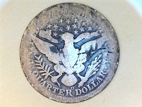 1896 O Barber Quarter--AG Details Semi-Key Date