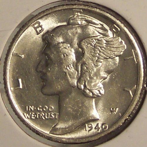 1940-S Mercury Head Dime GEM #0899