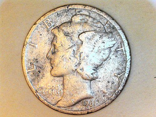1931 S Mercury Dime--Fine Details