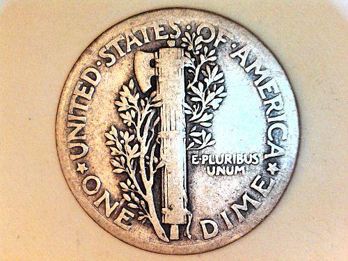 1935 P Mercury Dime--VG-Fine