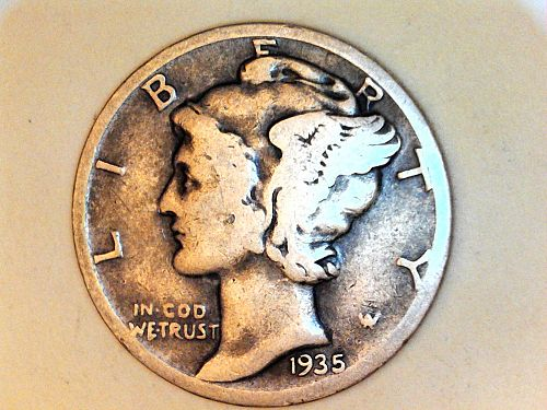 1935 S Mercury Dime--VG